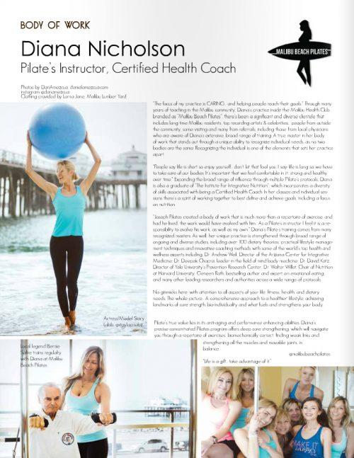 Malibu Beach Pilates Diana Nicholson